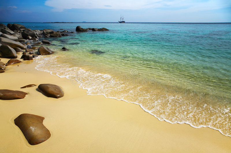 Download Tropical beach stock photo. Image of lagoon, clear, destination - 7667742
