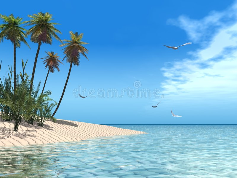 Tropical beach royalty free illustration