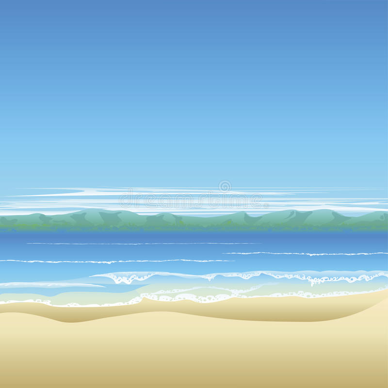 Download Tropical Beach Background Illustration Stock Vector - Image: 19774472