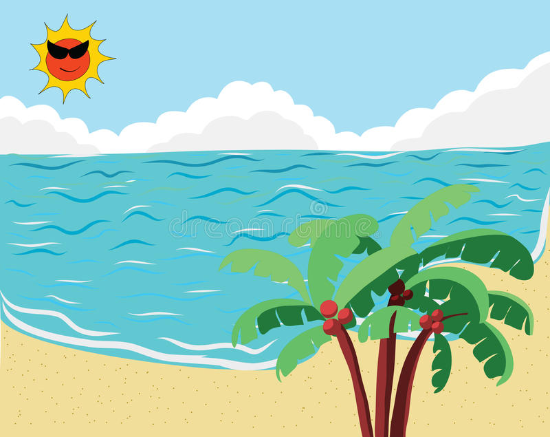 Tropical Beach banner royalty free stock images