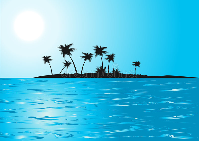 Download Tropical_beach_blue_sunny_day Stock Vector - Image: 4292541