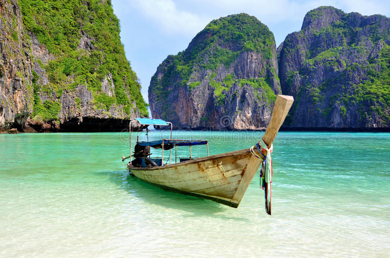 Download Tropical Beach with boat stock photo. Image of nang, boat - 25491000