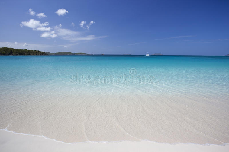 Tropical beach in the Caribbean royalty free stock images
