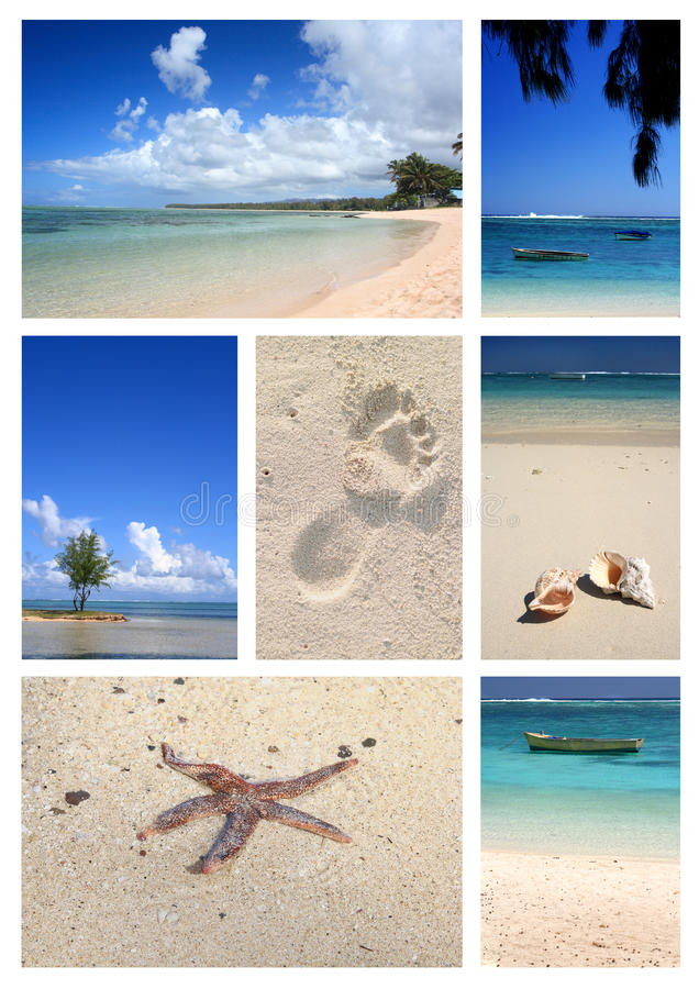 Download Tropical beach collage stock photo. Image of ocean, white - 27167118