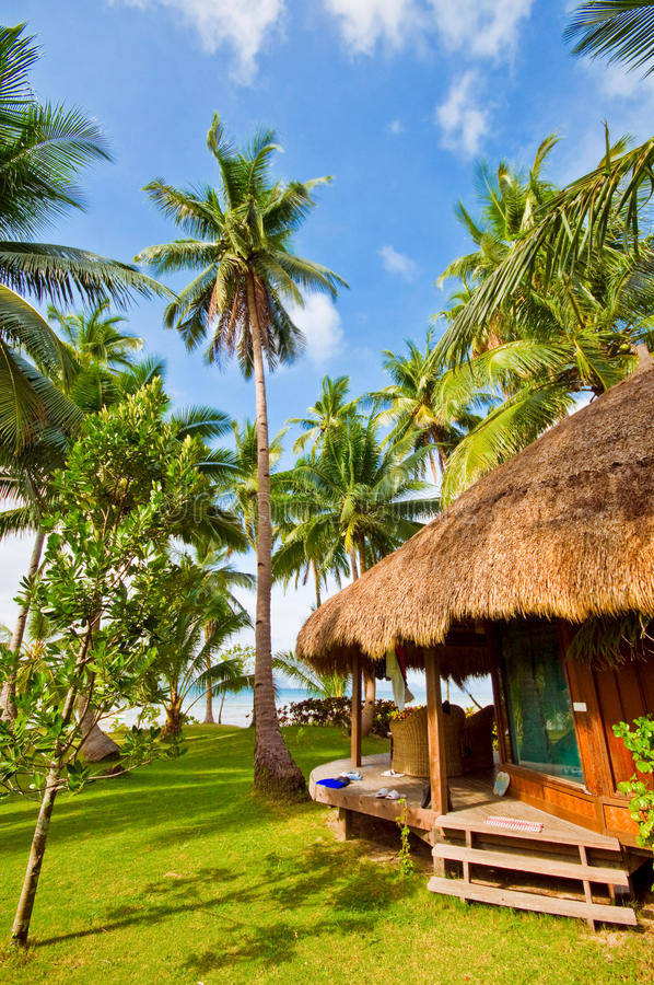 Download Tropical Beach Cottage Stock Image Of Nature Grass