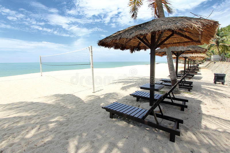 Tropical beach getaway stock image