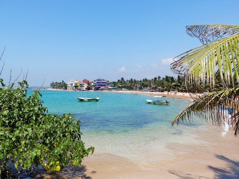 Tropical beach in Hikkaduwa. Sri Lanka stock images