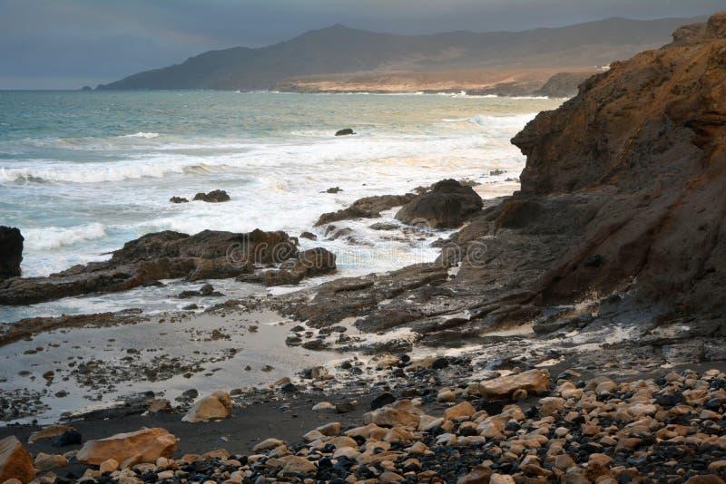 Tropical beach La Pared near Costa Calma at Fuerteventura, Canary Island, Spain royalty free stock photography