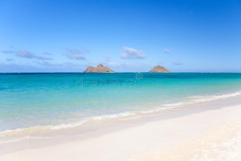 Tropical Beach At Lanikai Stock Photo