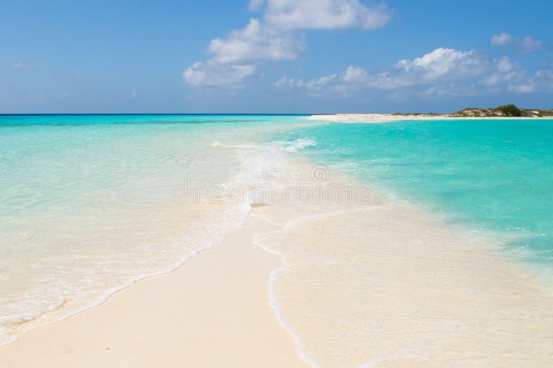 Tropical beach, los roques islands, venezuela royalty free stock photos