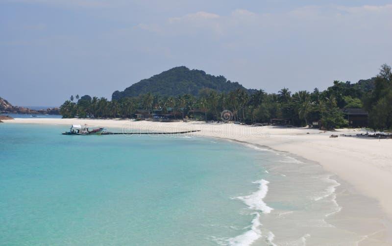 Tropical beach in Malaysia, Redang Island stock photos