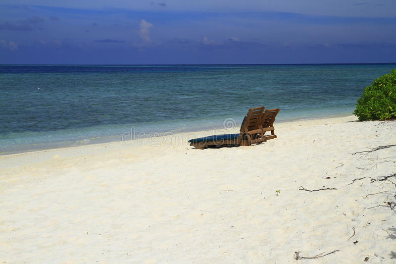 Download Tropical beach stock photo. Image of jetty, exotic, chair - 32901950