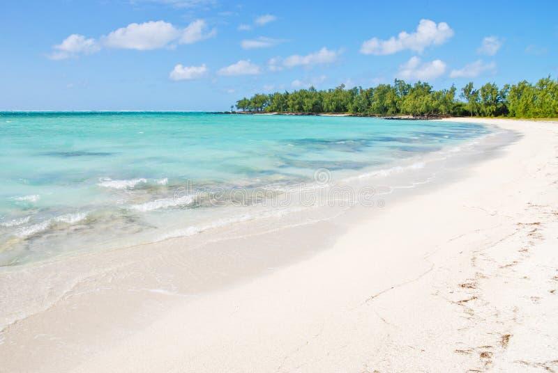 Tropical beach in Mauritius stock photo