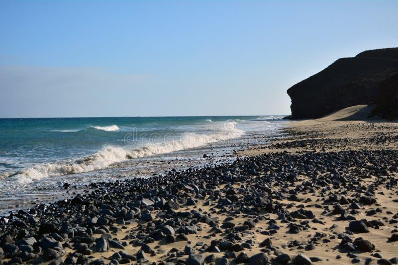 Tropical beach near Costa Calma at Fuerteventura, Canary Island, Spain royalty free stock image