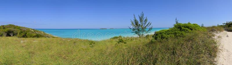 Tropical beach panorama royalty free stock photos