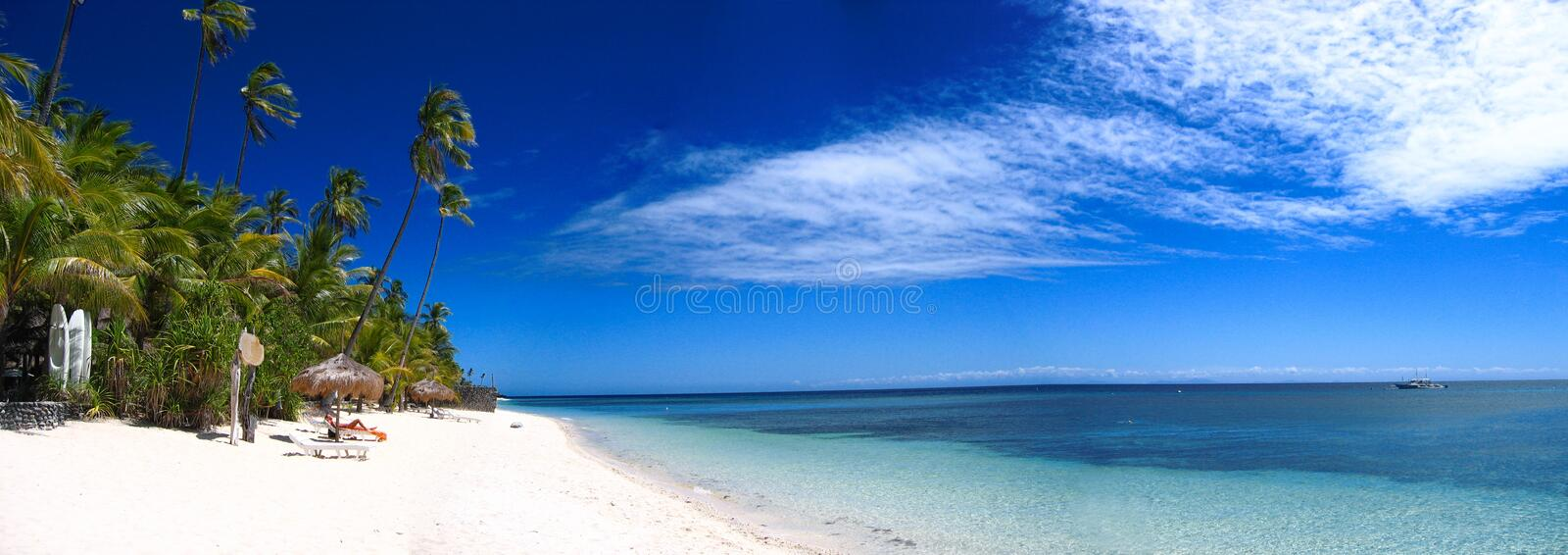 Download Tropical beach panorama stock image. Image of deserted - 2357751