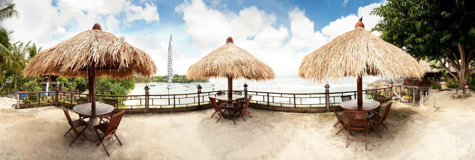 Download Tropical beach panorama stock image. Image of landscape - 30269897