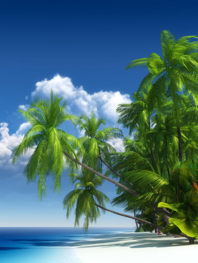 Download Tropical beach paradise stock illustration. Image of sand - 22766213
