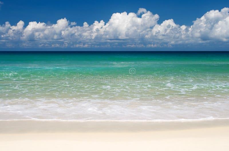 Tropical beach paradise stock photography