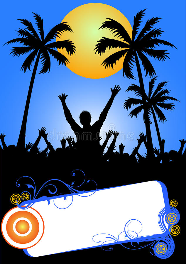 Download Tropical beach party stock vector. Image of empty, disco - 9526325