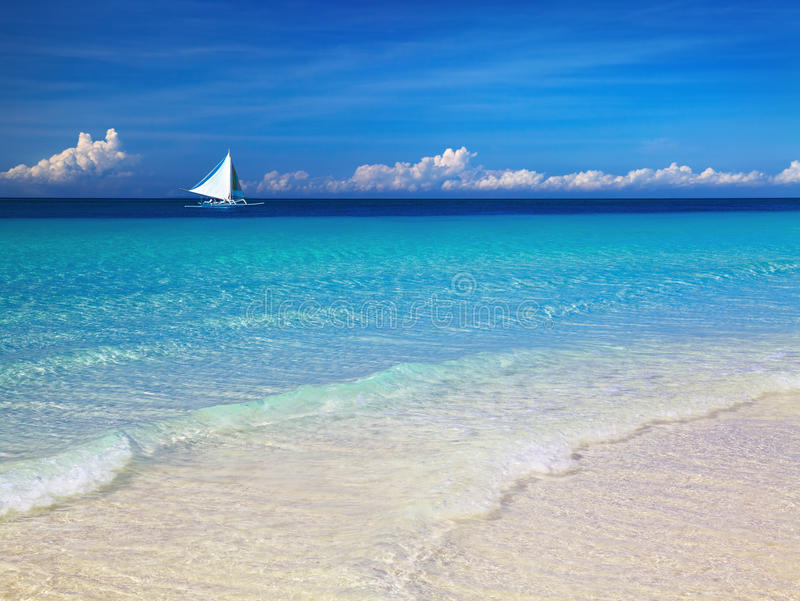 Tropical Beach, Philippines Royalty Free Stock Photography