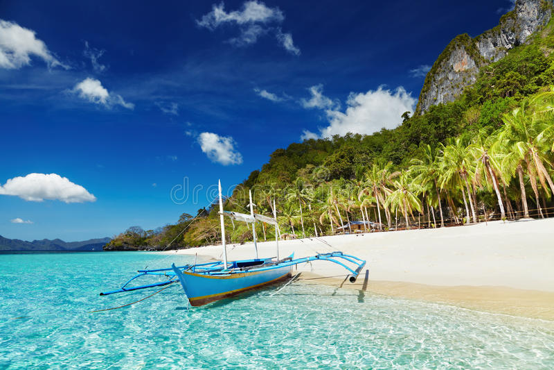 Tropical beach, Philippines stock photos