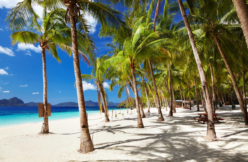 Tropical beach, Philippines royalty free stock images