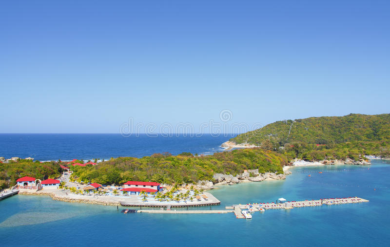 Download Tropical beach resort editorial image. Image of private - 24824645