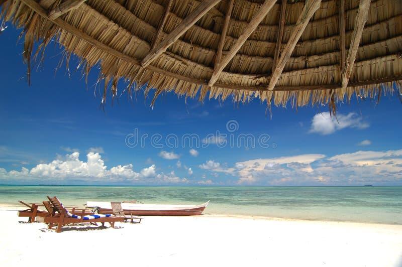 Tropical beach resort royalty free stock image