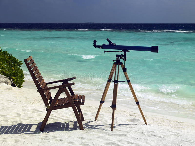 Tropical Beach Resort - The Maldives royalty free stock images