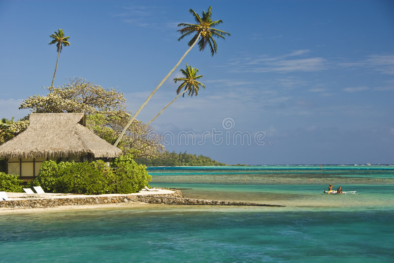 Download Tropical Beach Resort On Moorea In South Seas Stock Photo - Image: 4790706