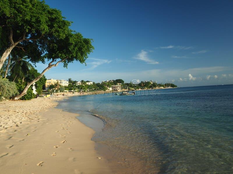 Tropical beach scene. Tropical beach and sea scene stock images