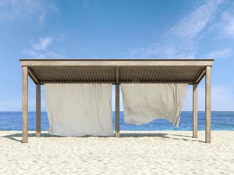 Download Tropical beach and sea stock image. Image of sunbed, beautiful - 35281707
