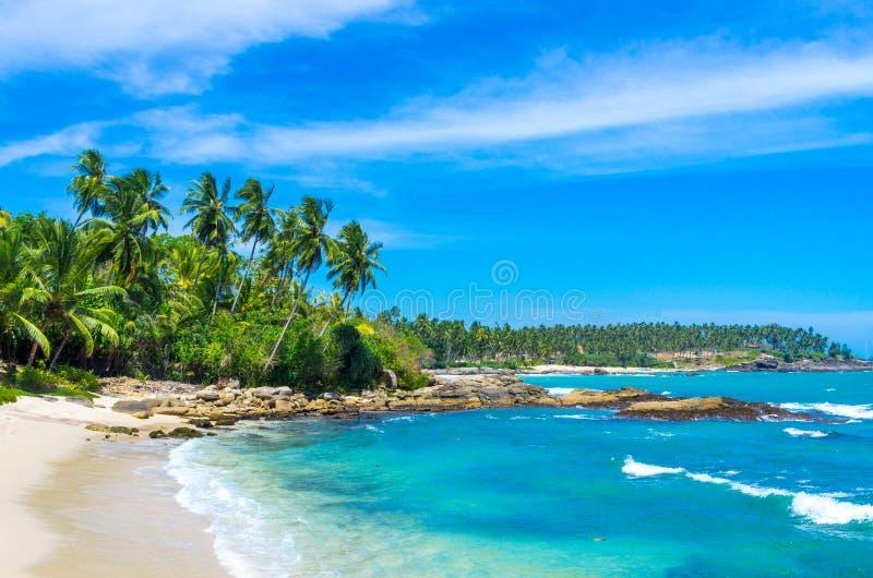 Tropical beach in Sri Lanka stock photo