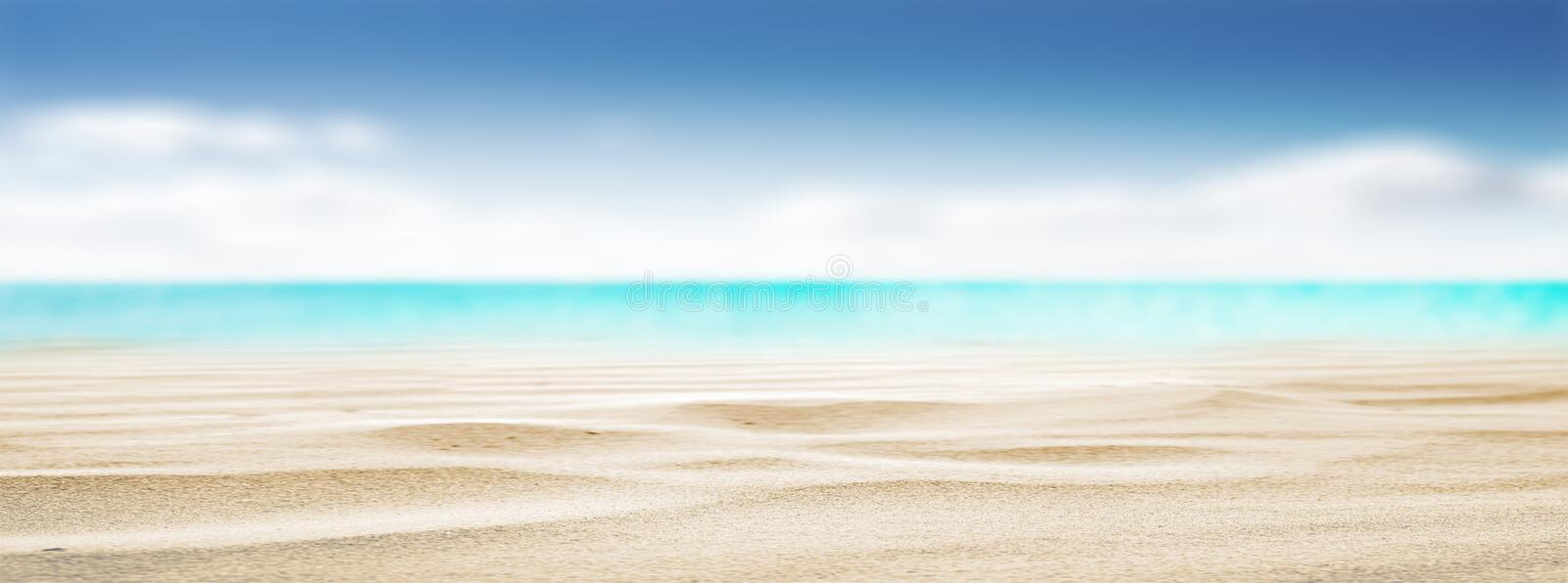 Tropical beach summer background stock images