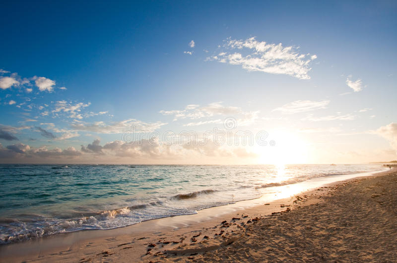 Download Tropical beach sunrise stock photo. Image of holiday - 12392016