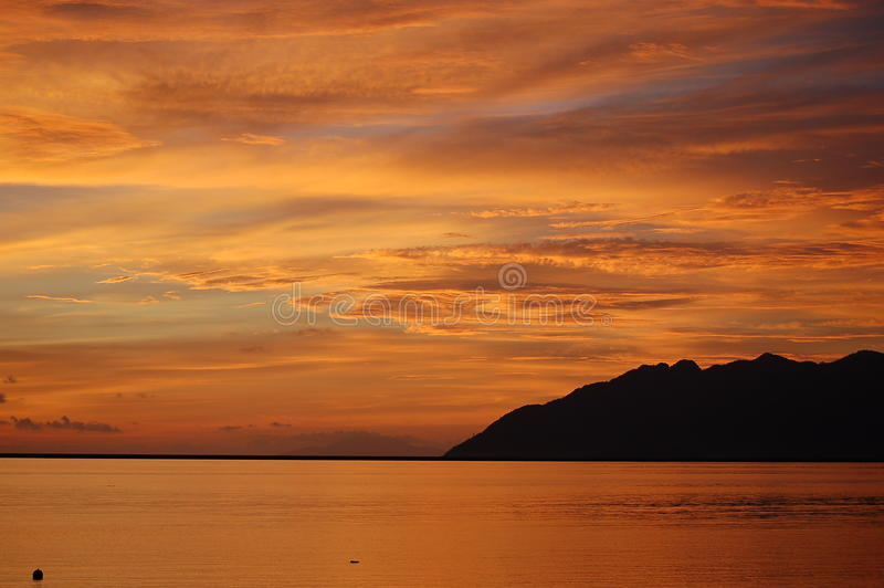 Download Tropical Beach Sunset stock photo. Image of langkawi - 22838448