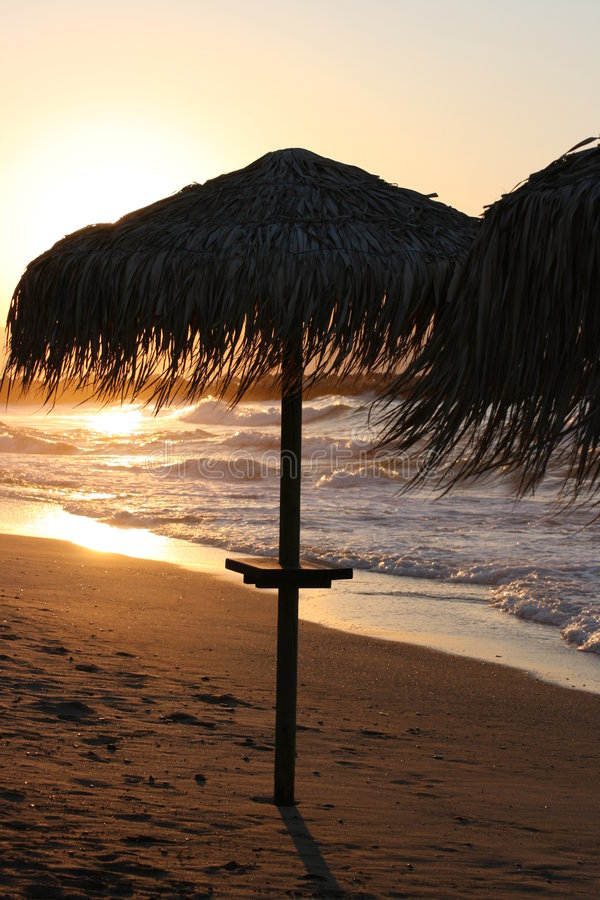 Download Tropical beach sunset stock photo. Image of scenic, outside - 6763036