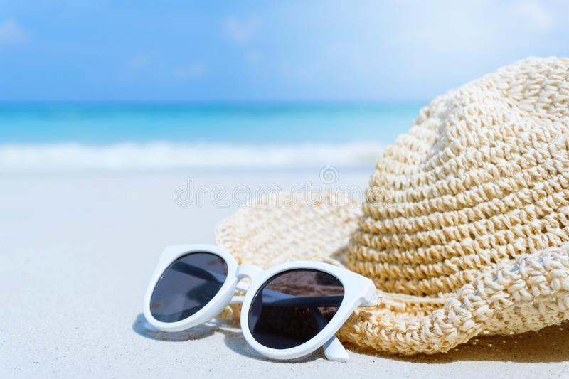 Tropical beach on vacation time, Summer concept royalty free stock photography