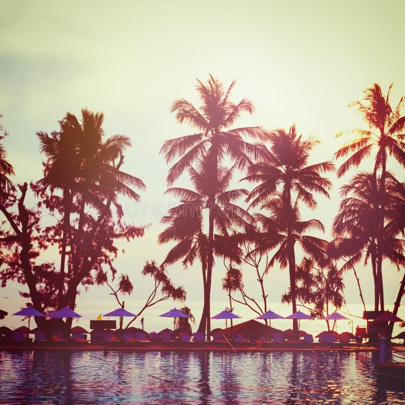 Tropical Beach. Vintage Instagram Effect. Stock Photo