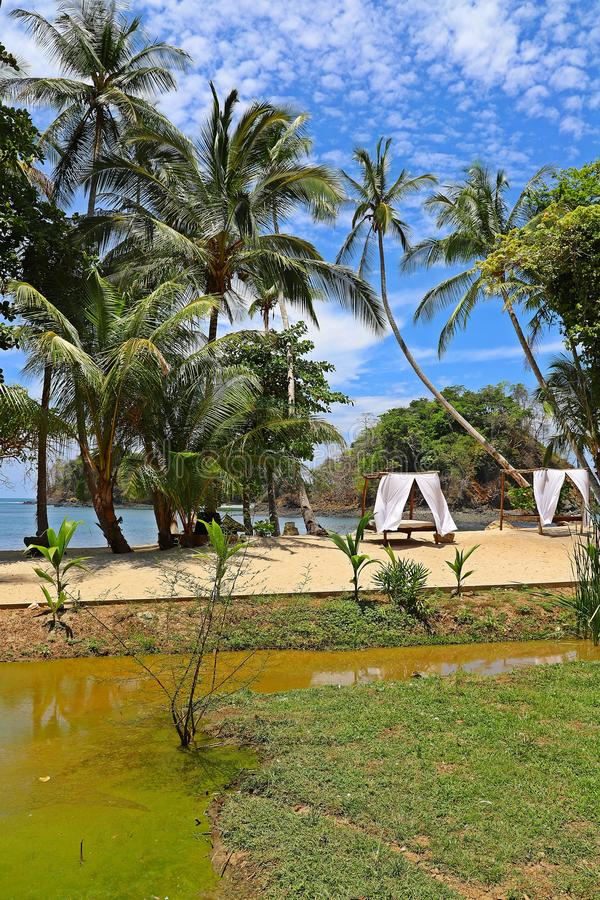 Tropical beaches in Panama, the best place to relax royalty free stock image
