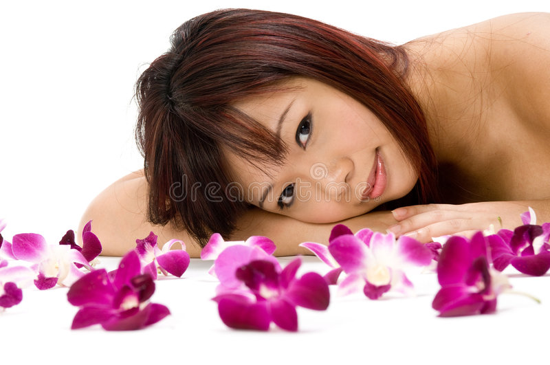 Download Tropical Beauty stock image. Image of person, pretty, flowers - 3200087