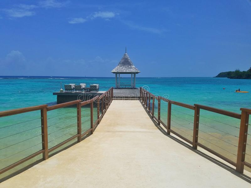 Tropical Bliss walkway royalty free stock photography