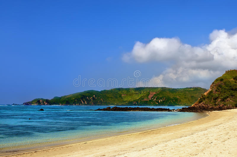 Download Tropical blue beach stock image. Image of blue, sand - 26759469