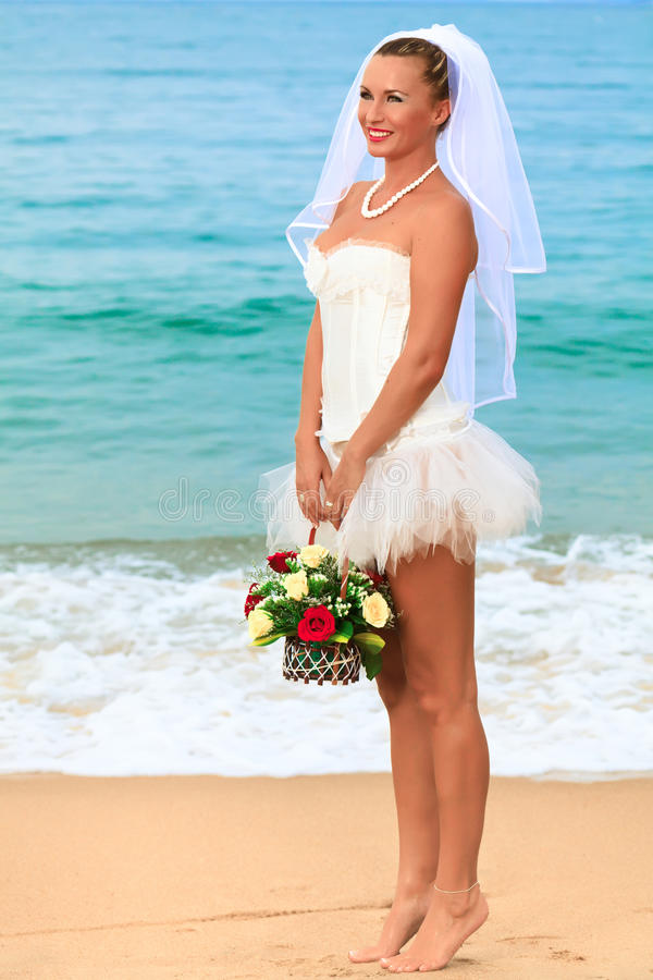 Tropical bride stock photos