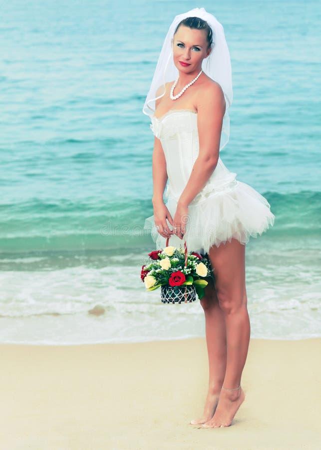 Tropical bride stock photo
