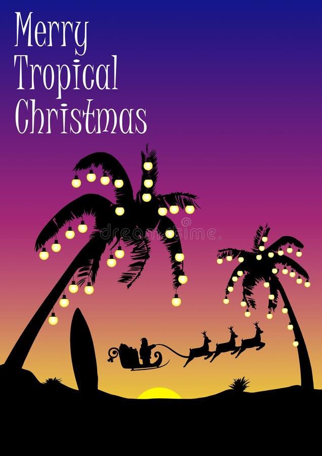 Tropical Christmas royalty free illustration