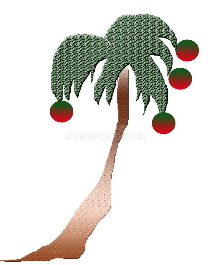 Tropical christmas tree stock photo