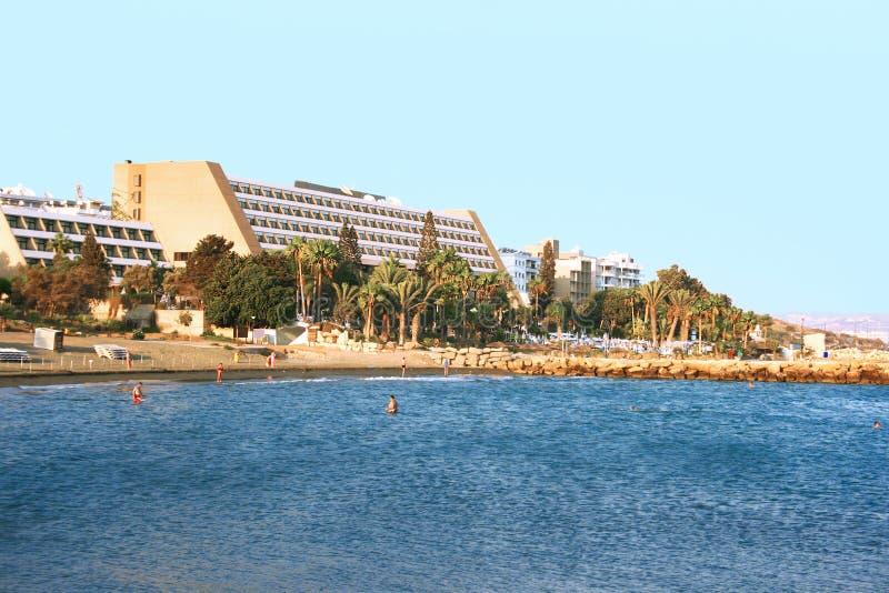 Tropical city beach royalty free stock photo
