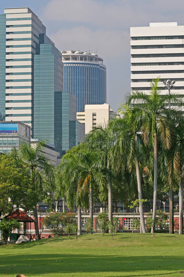 Download Tropical City Park stock photo. Image of office, scenic - 3777488